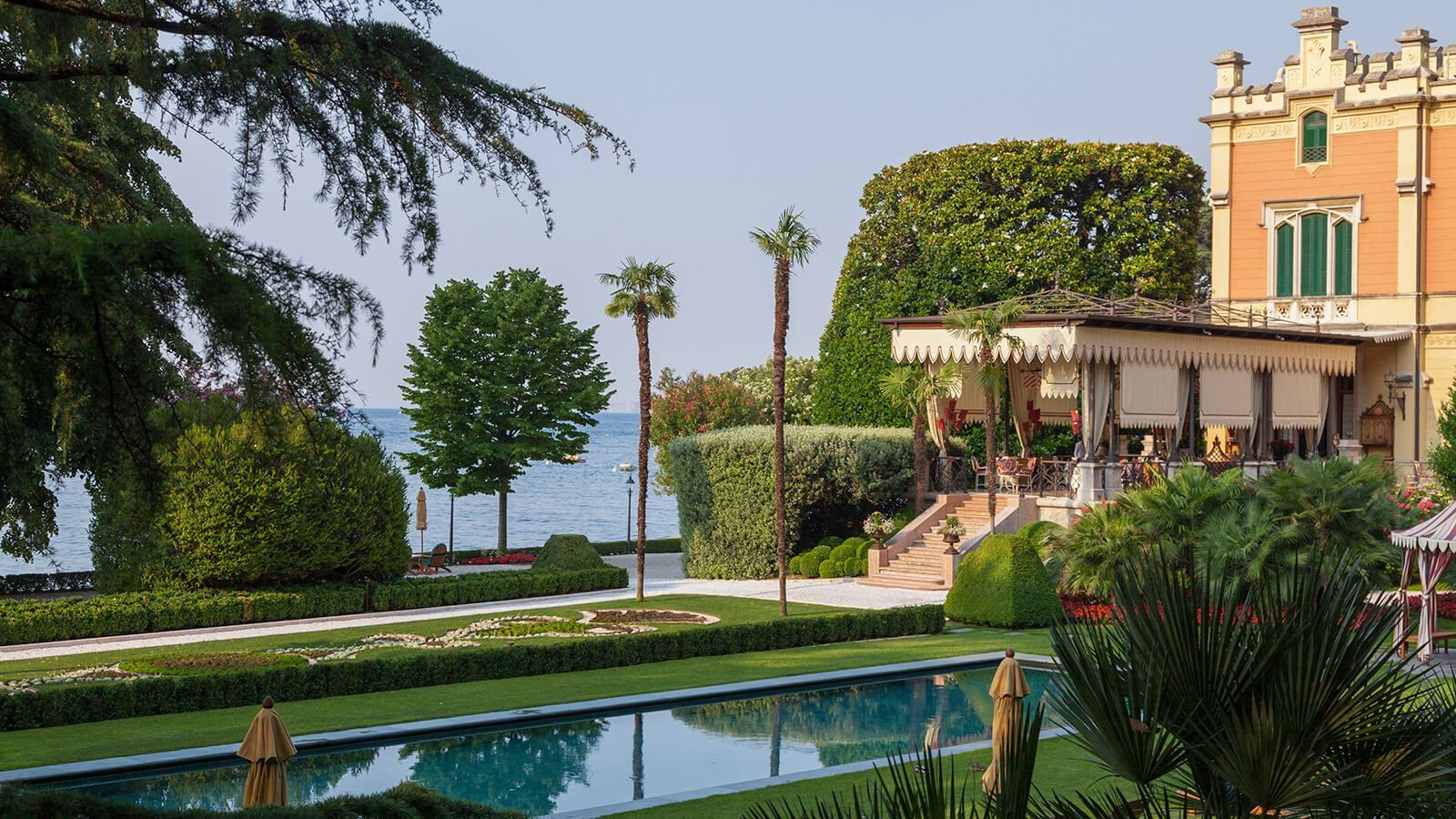 Grand hotel a Villa Feltrinelli - The Villa, the pool and lake sight